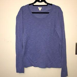J Crew Long Sleeve Lightweight Sweater
